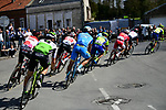 The breakaway group over 8 mins ahead approach the 1st pave sector at Troisvilles-Inchy during the 116th edition of Paris-Roubaix 2018. 8th April 2018.<br /> Picture: ASO/Pauline Ballet | Cyclefile<br /> <br /> <br /> All photos usage must carry mandatory copyright credit (&copy; Cyclefile | ASO/Pauline Ballet)