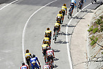 The peloton including Team Jumbo-Visma descend during Stage 2 of La Vuelta 2019 running 199.6km from Benidorm to Calpe, Spain. 25th August 2019.<br /> Picture: Luis Angel Gomez/Photogomezsport | Cyclefile<br /> <br /> All photos usage must carry mandatory copyright credit (© Cyclefile | Luis Angel Gomez/Photogomezsport)