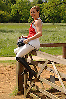 Tpt retro set found dead today <br /> <br /> Tara Palmer Tompkinson<br /> launches the Petplan Equine National Riding Festival, Hyde Park, London