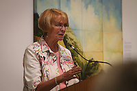 Callie Spillane addresses the crowd at  the Naples Art Association at The von Liebig Art Center and Ringling College of Art and Design awarded $8,000 in college scholarships to seven Collier County high school juniors and seniors on Friday, April 15, 2011. Photo by Debi Pittman Wilkey