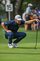 Tyrrell Hatton (ENG) looks over his putt on 15 during round 3 of the World Golf Championships, Mexico, Club De Golf Chapultepec, Mexico City, Mexico. 2/23/2019.<br /> Picture: Golffile | Ken Murray<br /> <br /> <br /> All photo usage must carry mandatory copyright credit (© Golffile | Ken Murray)