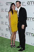 BURBANK, CA - OCTOBER 19: Actress Jamie-Lynn Sigler and fiance Cutter Dykstra arrive at the 23rd Annual Environmental Media Awards held at Warner Bros. Studios on October 19, 2013 in Burbank, California. (Photo by Xavier Collin/Celebrity Monitor)