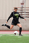 Palos Verdes, CA 01/26/10 -Emy Emmetti (MC #13) in action during the Mira Costa vs Palos Verdes Girls Varsity soccer game at Palos Verdes High School.