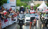 Stijn Devolder (BEL) taking his 3rd national title<br /> <br /> Belgian Championchips 2013