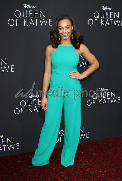 """20 September 2016 - Hollywood, California - Nia Sioux. """"Queen Of Katwe"""" Los Angeles Premiere held at the El Capitan Theater in Hollywood. Photo Credit: AdMedia"""