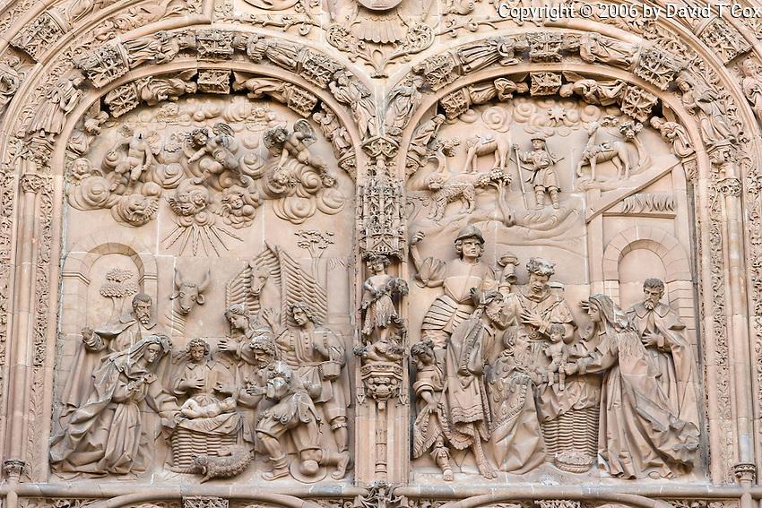 detail west entrance Catedral Nueva, Salamanca, Spain