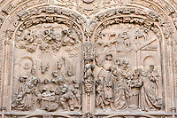 detail west entrance Catedral Nueva, Salamanca, Spain