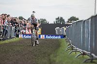 World Champion Wout Van Aert (BEL/Crelan CHarles) chasing <br /> <br /> cx Telenet Superprestige Gieten 2017 (NED)