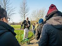 Hyde Park, speakers corner, a man on the stool speaks to the listeners on Juanary 20, 2019, in London, Italy. (Photo by Adamo Di Loreto/BuenaVista*photo)