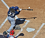 24 September 2012: Milwaukee Brewers infielder Rickie Weeks at bat against the Washington Nationals at Nationals Park in Washington, DC. The Brewers fell 12-2 to the Nationals in the final game of their 4-game series, splitting the series at two. Mandatory Credit: Ed Wolfstein Photo