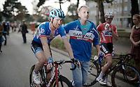 Tyler Farrar (USA/Garmin-Sharp) post finish<br /> <br /> stage 2<br /> Euro Metropole Tour 2014 (former Franco-Belge)