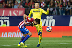 Nico Gaitan of Atletico de Madrid and Antonio Rukavina of Villarreal during the match of La Liga between Atletico de Madrid and Villarreal at Vicente Calderon  Stadium  in Madrid, Spain. April 25, 2017. (ALTERPHOTOS/Rodrigo Jimenez)