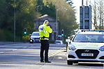 A member of AGS roads policing conducting a traffic speed check point on the dual carriage way in drogheda.<br /> Picture Fran Caffrey / Newsfile