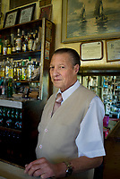 Andres Illanes Castro, owner of Salon Modelo Cantina in the Tepito neighbourhood of Mexico City.  Salon Modelo has been in his family for over 80 years.  September 18, 2007