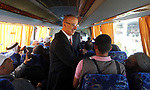 Palestinian Prime Minister Rami Hamdallah, attends the opening of the city of pilgrims at the King Hussein crossing, in the West Bank city of Jericho on August 6, 2018. Photo by Prime Minister Office