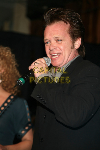 JOHN MELLENCAMP.John Mellencamp joined country quartet Little Big Town onstage during an Equity Records Showcase held at The Stage, Nashville, Tennessee , USA, 27 February 2007..half length microphone.CAP/ADM/RR.www.capitalpictures.com.©Randi Radcliff/AdMedia/Capital Pictures.