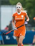 BREDA - De geblesseerde Maartje Kriekelaar met gezichtsmasker   voor  de wedstrijd tussen de vrouwen U21 van Nederland en India (1-0) tijdens het Volvo Invitation toernooi . COPYRIGHT KOEN SUYK