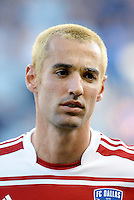 Andrew Jacobson FC Dallas midfielder... Sporting KC defeated FC Dallas 2-1 at LIVESTRONG Sporting Park, Kansas City, Kansas.