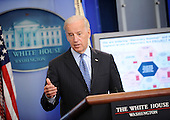 United States Vice President Joseph Biden talks to the press about the Recovery Act during the daily briefing in the White House on Thursday, June 17, 2010, in Washington, DC.  .Credit: Leslie E. Kossoff / Pool via CNP