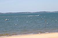 beach and sea arcachon bordeaux france
