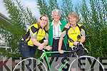 CHARITY CYCLE: Catriona O'Connor, Monica Prendiville and Rita McCarthy of the Castleisland Day Care Centre committee and Currow Cycling Club launching their Annaul Fun Cycle and Walk to be held on Sunday 4th of September cycle commences at 10:00pm and the walk commences at 12:00 noon.