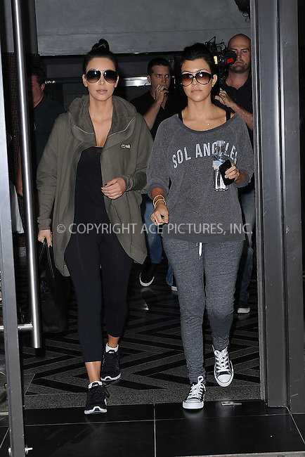 WWW.ACEPIXS.COM . . . . . .August 31, 2011...New York City...Kim and Kourtney Kardashian  go to the gym on August 31, 2011 in New York City....Please byline: KRISTIN CALLAHAN - ACEPIXS.COM.. . . . . . ..Ace Pictures, Inc: ..tel: (212) 243 8787 or (646) 769 0430..e-mail: info@acepixs.com..web: http://www.acepixs.com .