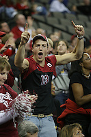 14 December 2006: Stanford Cardinal fan during Stanford's 30-12, 30-25, 30-15 win against the Washington Huskies in the 2006 NCAA Division I Women's Volleyball Final Four semifinal match at the Qwest Center in Omaha, NE.
