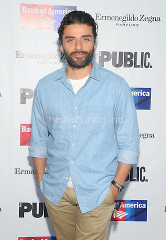 New York, NY- August 5: Oscar Issac attends the Public Theater's Opening Night of King Lear on August 5, 2014 at the Delacorte Theater in Central Park in New York City. . Credit: John Palmer/MediaPunch
