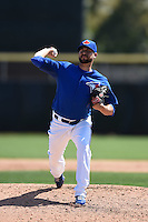 Toronto Blue Jays pitcher Ryan Tepera (52) during a Spring Training game against the Houston Astros on March 9, 2015 at Florida Auto Exchange Stadium in Dunedin, Florida.  Houston defeated Toronto 1-0.  (Mike Janes/Four Seam Images)