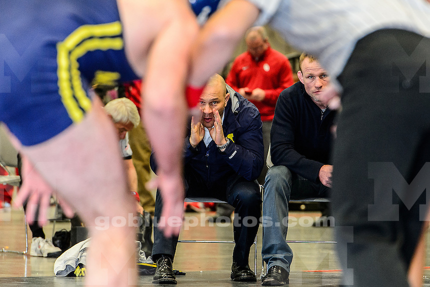 The University of Michigan wrestling team competes at the 2013 Cliff Keen wrestling tournament, at the Las Vegas Convention Center, Las Vegas, Nev., on December 7, 2013.