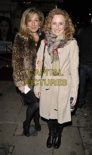 LONDON, ENGLAND - JANUARY 29: Tracey-Ann Oberman &amp; Nicola Stephenson attend the &quot;Di and Viv and Rose&quot; press night, Vaudeville Theatre, The Strand, on Thursday January 29, 2015 in London, England, UK. <br /> CAP/CAN<br /> &copy;Can Nguyen/Capital Pictures