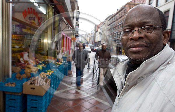 BRUSSELS - BELGIUM - 02 FEBRUARY 2009 --  Cheik FITA, Congolese author and theater script writer, living in Brussels, Ixelles since 2002. -- PHOTO: Juha ROININEN / EUP-IMAGES