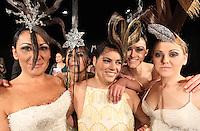 MODELLE PER UN GIORNO ALCUNE DETENUTE  DEL CARCERE FEMMINILE DI POZZUOLI HANNO SFILATO IN PASSERELLA PER LO STILISTA GIANNI MOLARO<br /> NELLA FOTO  LE MODELLE