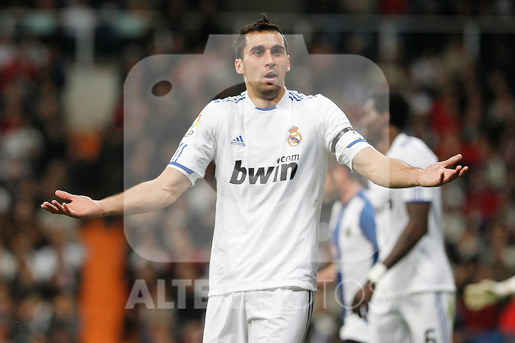 Real Madrid's Alvaro Arbeloa during La Liga match.March 12,2011. (ALTERPHOTOS/Acero)