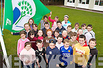 GREEN TEAM: Pupils from Scoil Mhichil Noafa in Ballinskelligs who were presented with their first Green Flag this week. The official hoisting of the fag takes place on Saturday.   Copyright Kerry's Eye 2008
