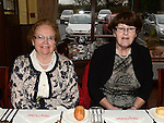 Mary King and Mary Matthews pictured at the Collon Senior Citizens Christmas party in Watter's. Photo:Colin Bell/pressphotos.ie