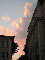 Sunset on our last night near the hotel in Trastevere, Rome.