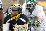 Redondo Beach, CA 05/14/11 - Eric Adamson (Foothill-Santa Ana #33) and Travis Meersand (Mira Costa #21) in action during the US Lacrosse CIF SS Championship game between Mira Costa and Foothill for the Division 1 title.