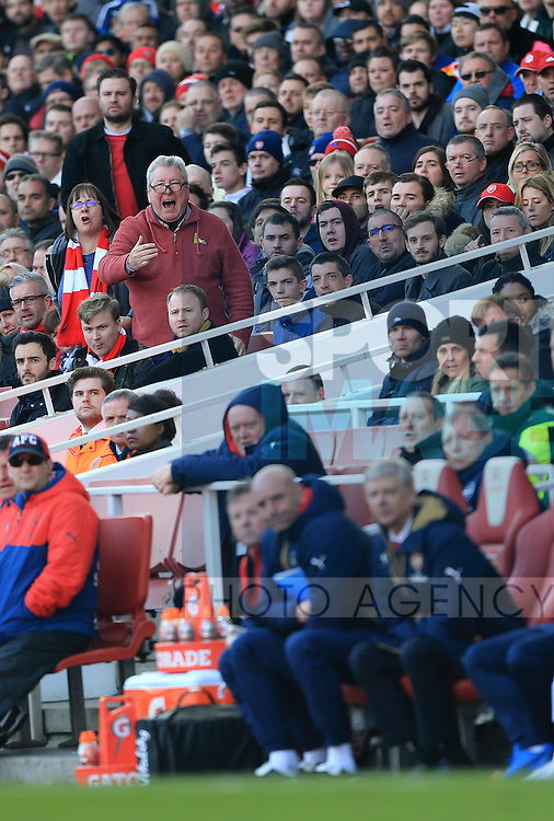 Arsenal's fans shout at manager Arsene Wenger during the Emirates FA Cup match at The Emirates Stadium.  Photo credit should read: David Klein/Sportimage
