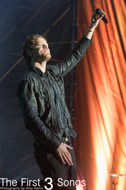 Dan Reynolds of Imagine Dragons performs at White River State Park in Indianapolis, Indiana.