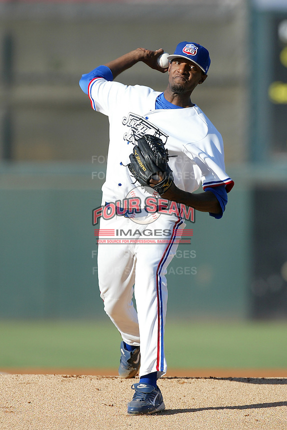 James McDonald of the Inland Empire 66'ers during a California League baseball game on June 24, 2007 at San Manuel Stadium in San Bernardino, California. (Larry Goren/Four Seam Images)