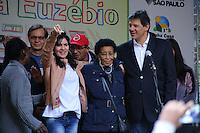 SÃO PAULO,SP, 12.06.2016 - HADDAD-SP - Prefeito de São Paulo Fernando Haddad inaugura o Conjunto Habitacional Iracema Euzébio, na República, região central da cidade, neste domingo (12). (Foto: Yuri Alexandre/Brazil Photo Press)