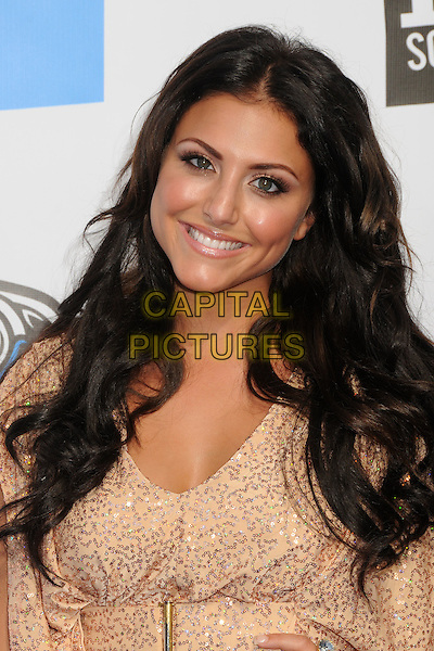 Cassie Scerbo.The 2011 Do Something Awards held at The Palladium in Hollywood, California, USA..August 14th, 2011.headshot portrait beige nude smiling tan tanned skin beauty beads beaded  .CAP/ADM/BP.©Byron Purvis/AdMedia/Capital Pictures.