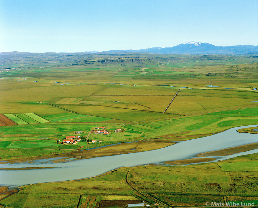 Auðsholt séð til austurs, Hvítá, Hrunamannahreppur / Audsholt viewing east, Hvita river, Hrunamannahreppur