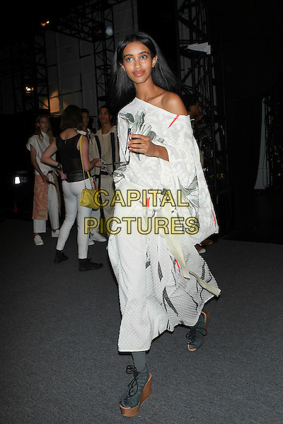 NEW YORK, NY - SEPTEMBER 10: Backstage at Academy of Art University Spring 2016 Collections at The Arc, Skylight at Moynihan Station on September 10, 2016 in New York City. <br /> CAP/MPI/DC<br /> &copy;DC/MPI/Capital Pictures