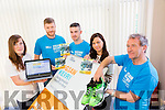 Jigsaw Kerry Looking for Runners and Launching their Donate web page for the Listowel Half Marathon and 10k on Saturday 14th November at the office in Edward Court on Thursday Pictured l-r Raedin O'Sullivan, Clinical Support Worker, Donagh Hennebery, Youth and Community Engagement Worker, Colin Ahern, Born to Run, Triona Casey, Jiqsaw Administrator and George Glover, Kerry Crusaders