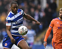 25th January 2020; Madejski Stadium, Reading, Berkshire, England; English FA Cup Football, Reading versus Cardiff City; Yakou Meite of Reading controls the ball to score in the 8th minute 1-1