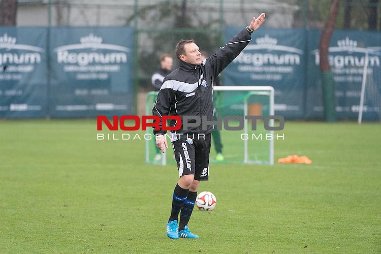 14.01.2015, Regnum Sport Center, Belek, TUR, 1.FBL, Trainingslager SC Paderborn 07 2015, Tag 01, im Bild<br /> <br /> Andr&eacute; Breitenreiter (SCP -Headcoch TRAINER)<br /> <br /> <br /> <br /> Foto &copy; nordphoto / Kokenge