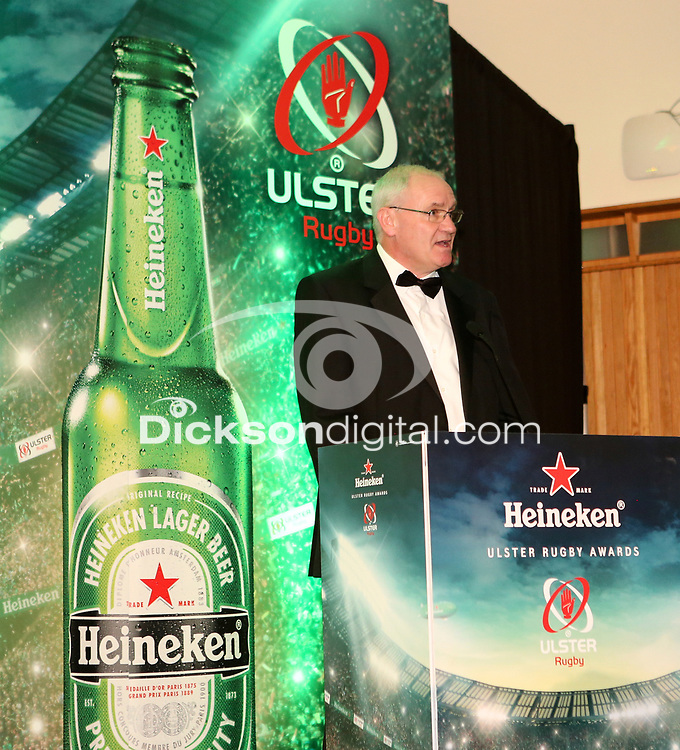 Thursday 10th May 2018 | Ulster Rugby Awards 2018<br /> <br /> Ulster Rugby CEO Shane Logan during the 2018 Heineken Ulster Rugby Awards at La Mom Hotel, Belfast. Photo by John Dickson / DICKSONDIGITAL