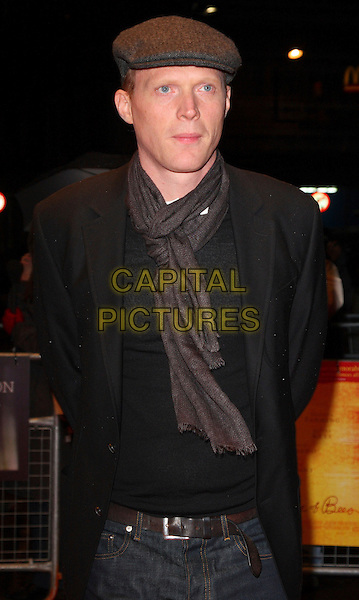 "PAUL BETTANY .London Film Festival screening of ""Secret Life Of Bees"" at the Odeon West End, London, England, .October 23rd 2008..half length cap hat scarf grey gray black  jacket .CAP/ROS.©Steve Ross/Capital Pictures"